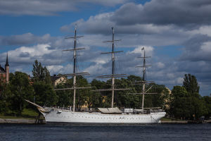 A Ship Sits Outside Stockholm
