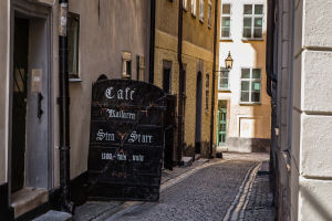 Cafes Abound in Old Town Stockholm
