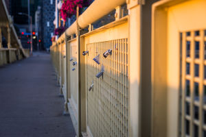 Locks on the Roberto Clemente Bridge