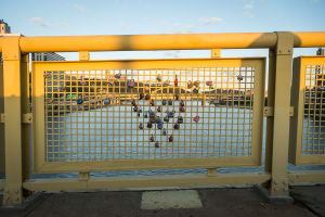 Roberto Clemente Bridge Locks