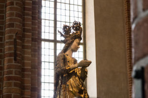 Statue in Stockholm Cathedral